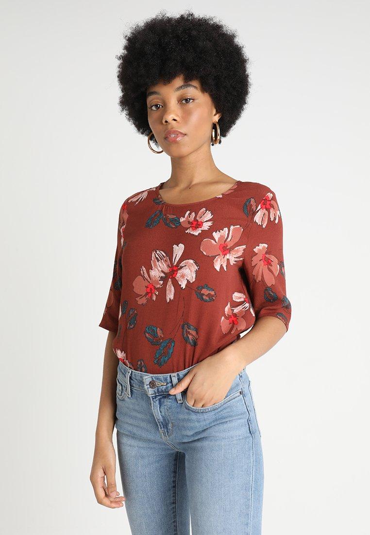 Vero Moda - VMISLA BOCA - Bluse - henna