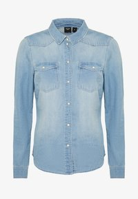 Vero Moda - VMMARIA SLIM  - Chemisier - light blue denim/birch - 3