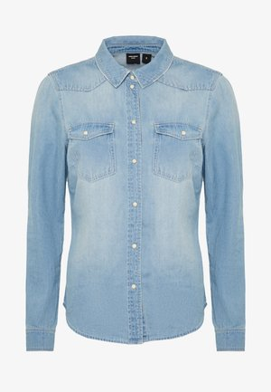 VMMARIA SLIM  - Button-down blouse - light blue denim/birch