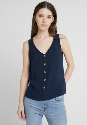 VMSASHA BUTTON  - Blouse - navy blazer
