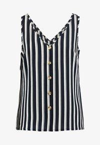 Vero Moda - VMSASHA BUTTON  - Bluse - navy blazer/snow white coco - 3