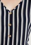 Vero Moda - VMSASHA BUTTON  - Bluse - navy blazer/snow white coco