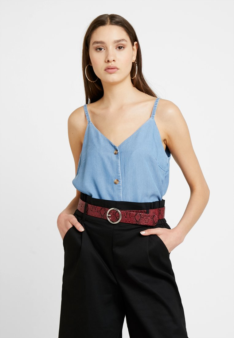 Vero Moda - VMMAYA BUTTON SINGLET - Top - light blue