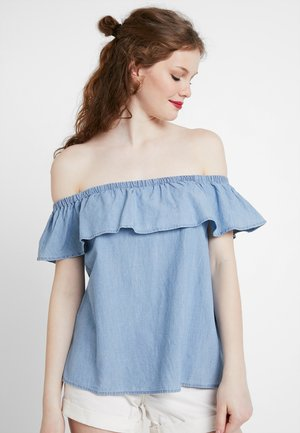 VMEMILIA FRILL  - Bluse - light blue denim