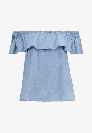 VMEMILIA FRILL  - Pusero - light blue denim