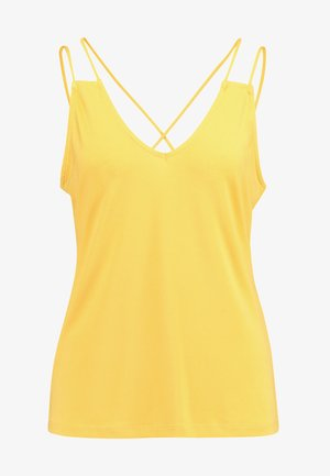 VMALBERTA V NECK STRING SINGLET - Top - spicy mustard