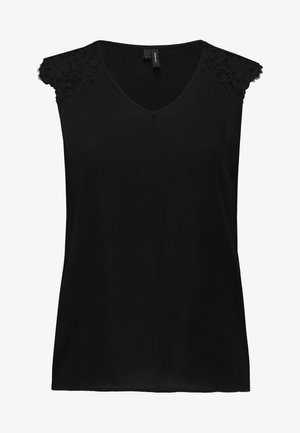 VMDEPO V NECK INSERT - Blouse - black