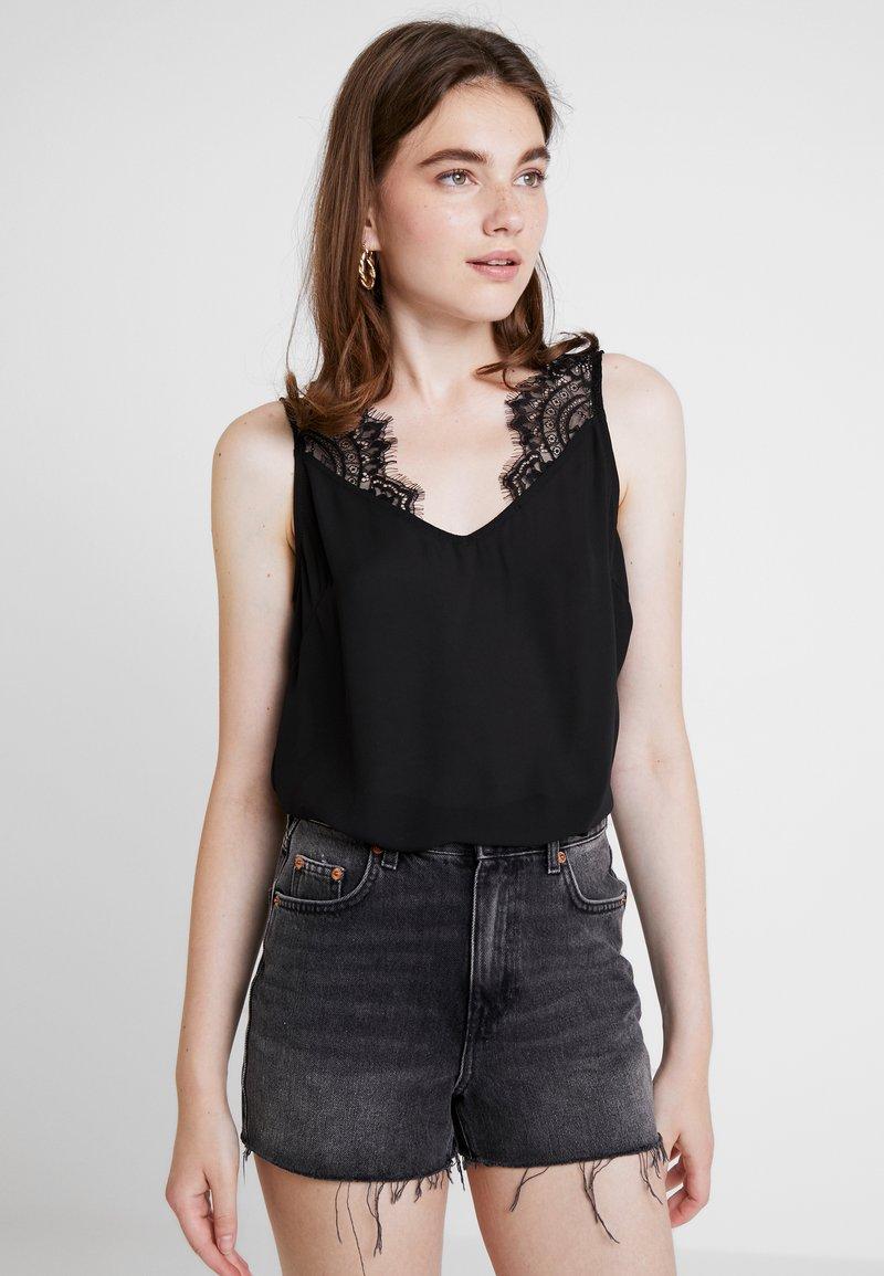 Vero Moda - VMREEDA SINGLET - Bluse - black
