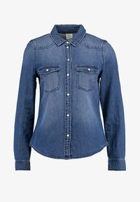 Vero Moda - Overhemdblouse - medium blue denim