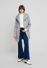 Vero Moda - Halflange jas - light grey melange