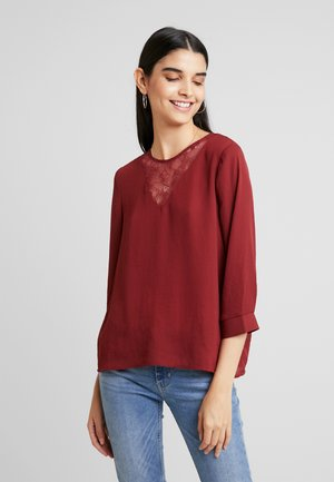 VMKAROLINE 3/4 COLOR - Blouse - madder brown
