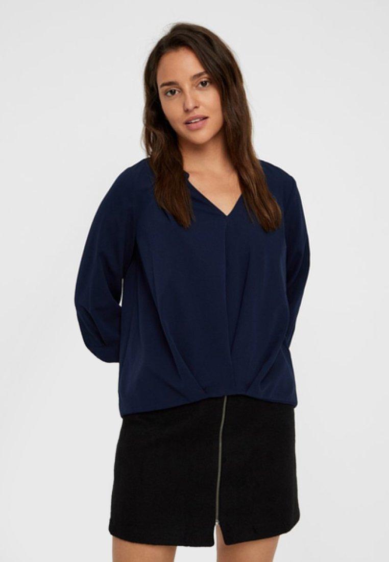 Vero Moda - Bluse - dark-blue denim