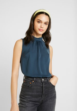 VMSILLE HIGH NECK - Blouse - midnight navy