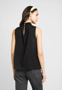 Vero Moda - VMSILLE HIGH NECK - Bluse - black - 2