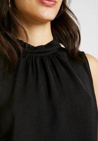 Vero Moda - VMSILLE HIGH NECK - Bluse - black - 5