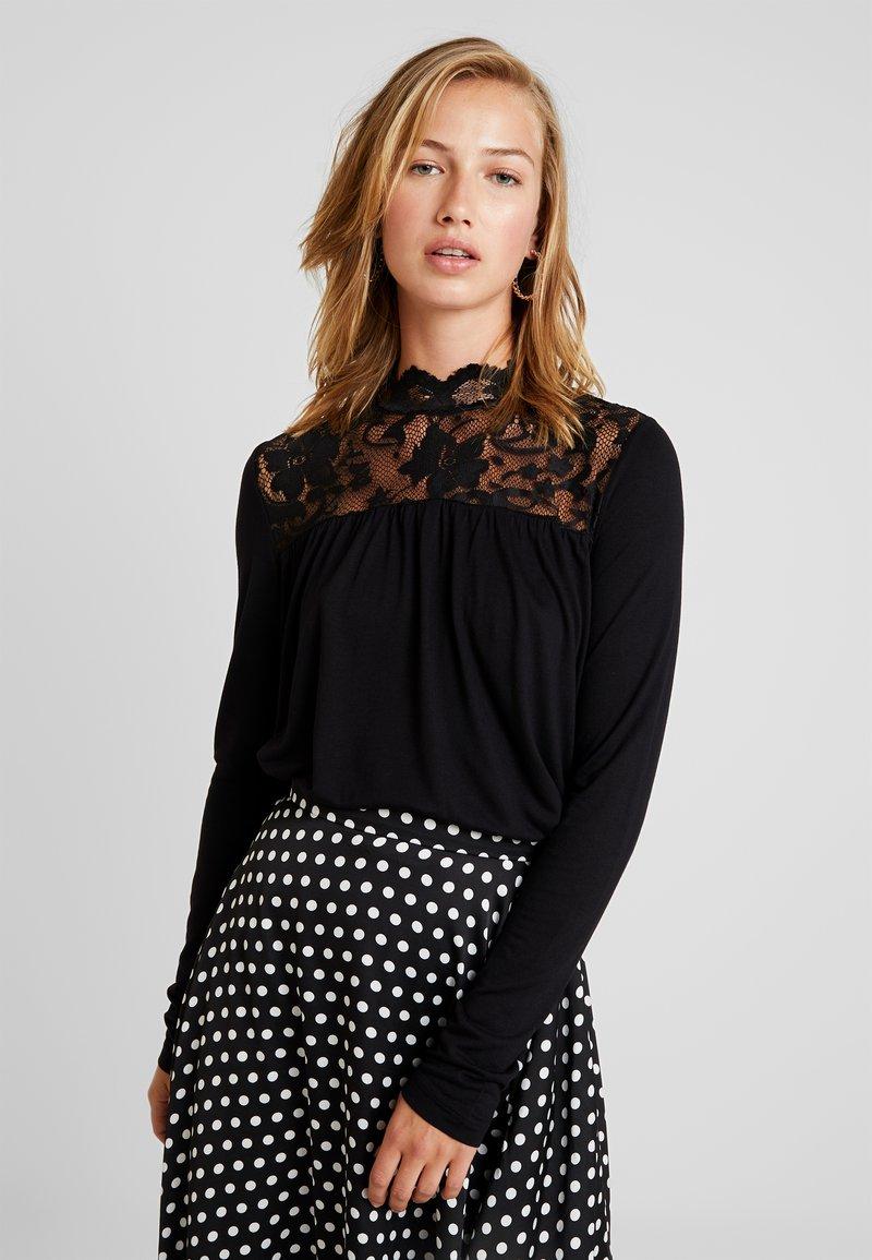 Vero Moda - VMBASHA FUNNEL - Long sleeved top - black