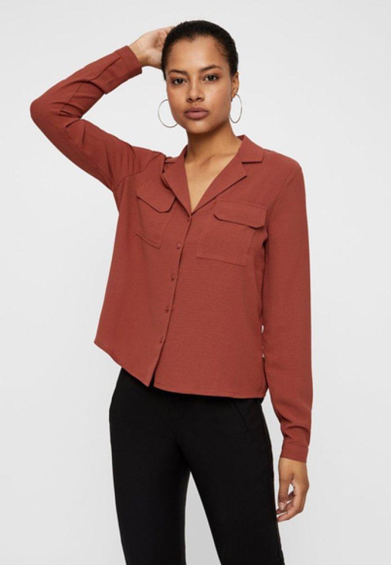Vero Moda - Button-down blouse - brown