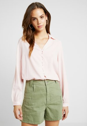 Button-down blouse - sepia rose