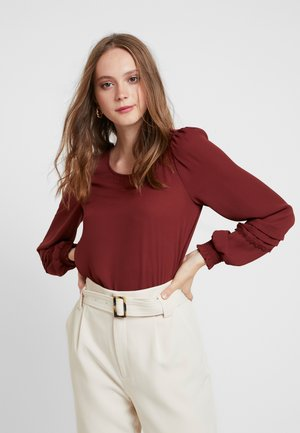 VMALLINA - Blus - madder brown
