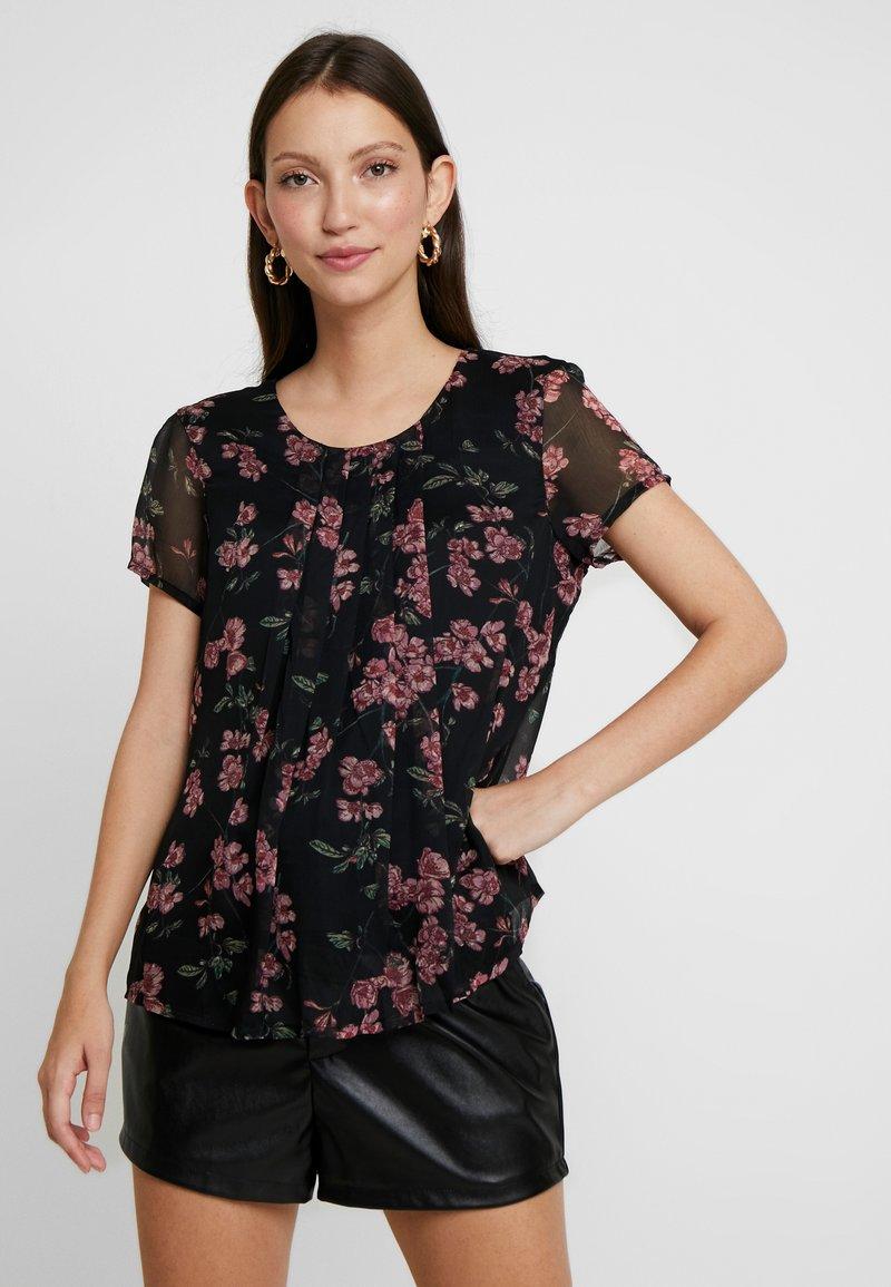 Vero Moda - VMMALLIE RESTA - Bluse - black/mallie