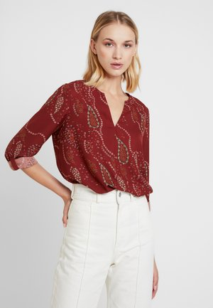 VMELLIE FOLD UP - Blouse - madder brown/ellie