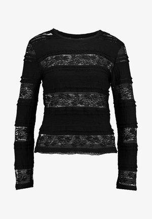 VMTHEA O NECK BLOUSE - Camicetta - black