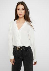 Vero Moda - VMJORDAN SHIRT - Button-down blouse - snow white - 0