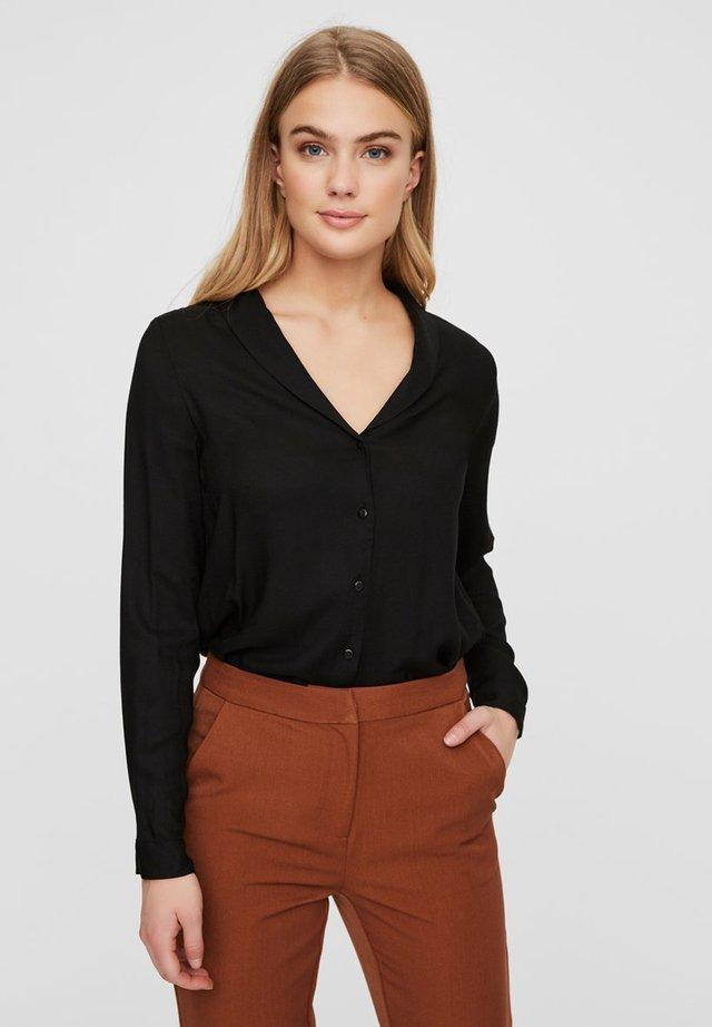 VMJORDAN SHIRT - Button-down blouse - black