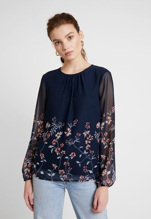 VMFLORA PLEAT TOP  - Blusa - navy blazer