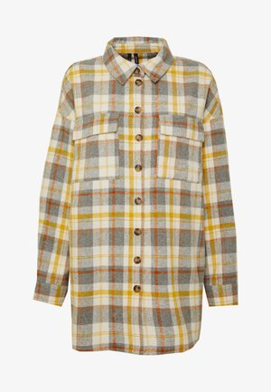 VMCHECK OVERSHIRT  - Button-down blouse - marsala