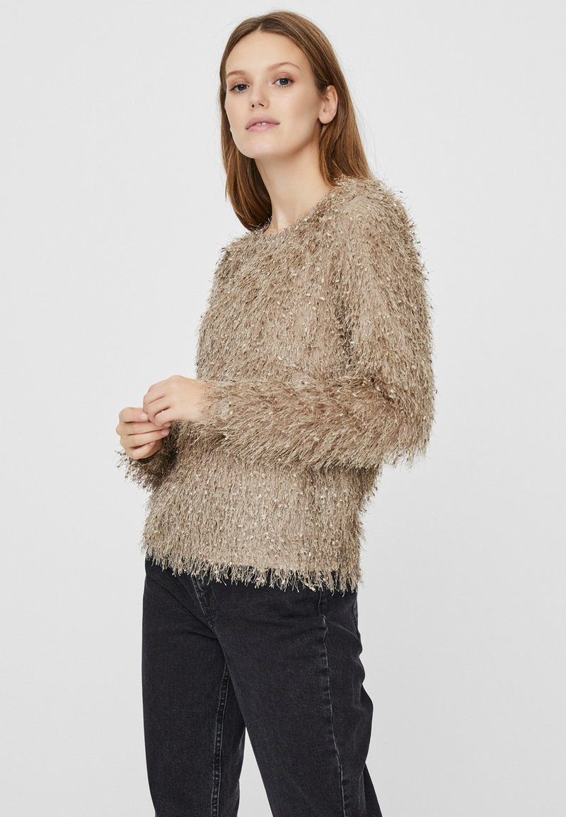 Vero Moda - Bluzka - silver mink