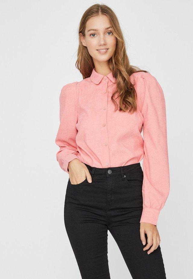 Button-down blouse - tea rose