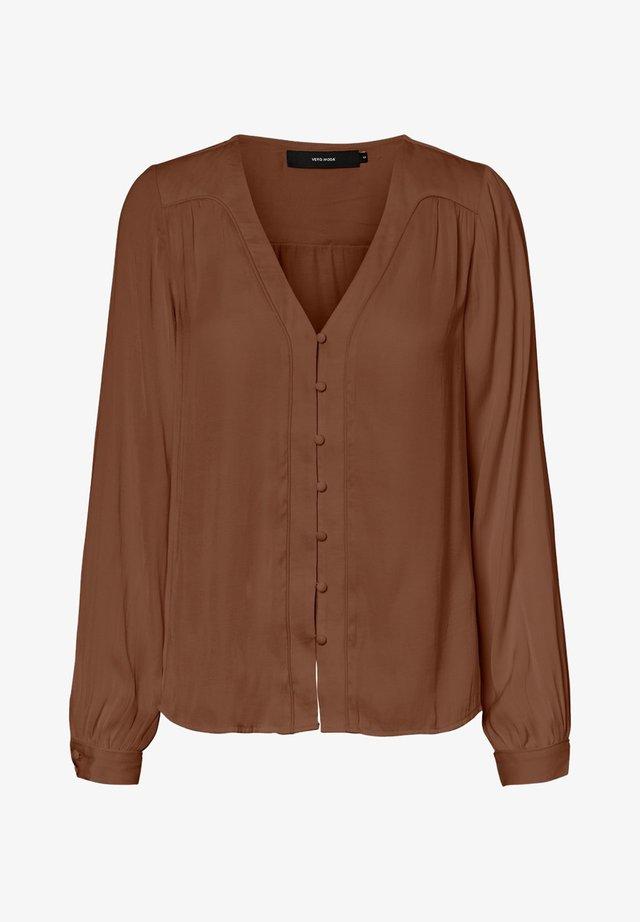 Blus - mottled brown