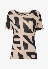 Vero Moda - VMISLAFRANCIS BOX - T-shirt imprimé - beige - 3
