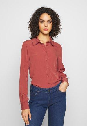 VMINEZ - Button-down blouse - marsala