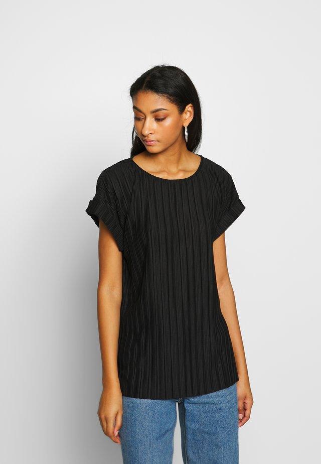VMALIA PLISSE TOP - T-shirt med print - black
