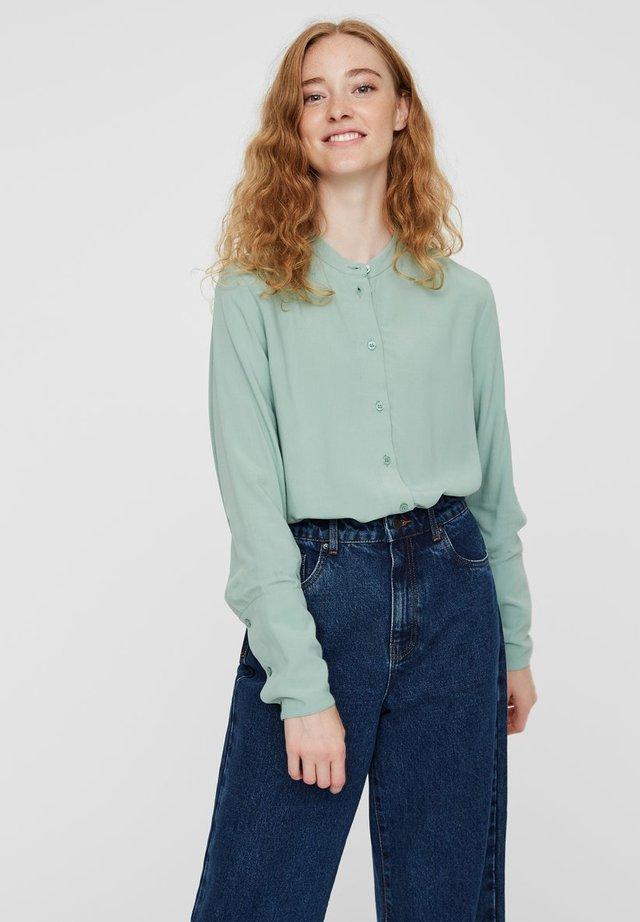 HEMD LANGÄRMELIGE - Button-down blouse - granite green