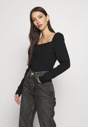 VMANNE SMOCK - Long sleeved top - black