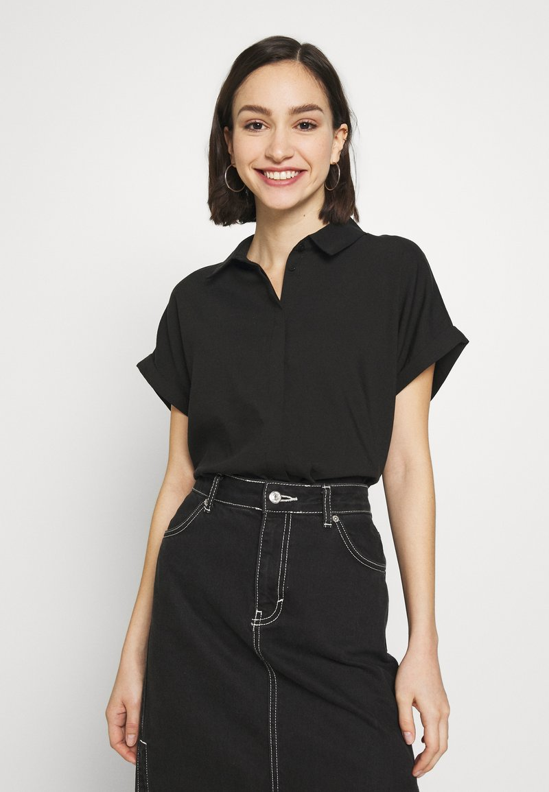Vero Moda - Button-down blouse - black