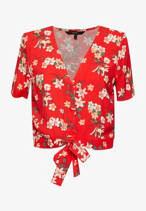 VMSIMPLY EASY SHIRT TIE TOP - Bluser - red