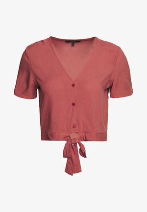VMSIMPLY EASY SHIRT TIE TOP - Blouse - marsala