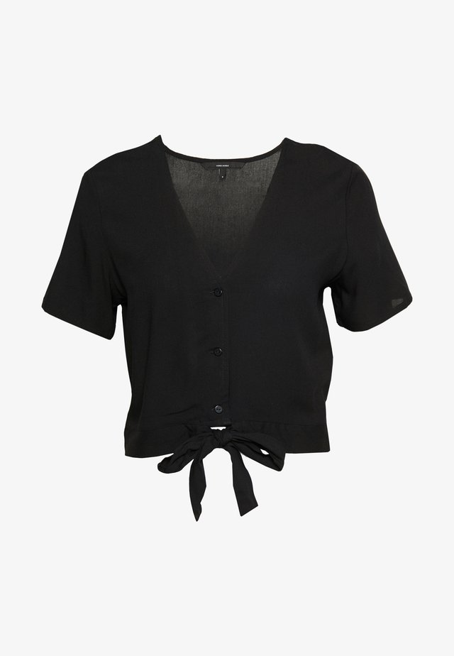 VMSIMPLY EASY SHIRT TIE TOP - Pusero - black