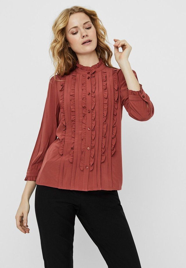 Button-down blouse - marsala
