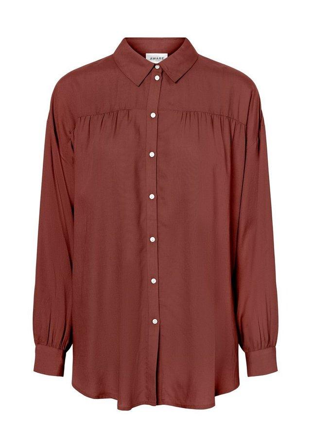 OLUMENÄRMEL - Button-down blouse - sable