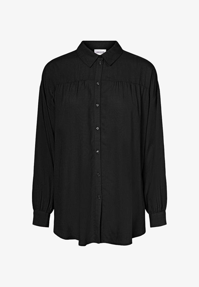 OLUMENÄRMEL - Button-down blouse - black