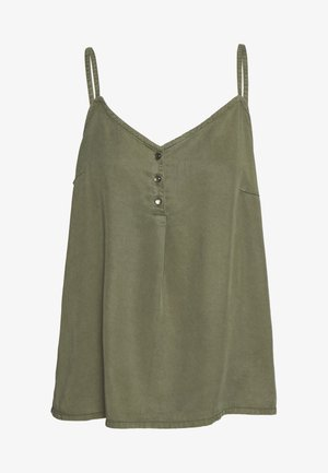 VMLENA BUTTON SINGLET - Topper - ivy green