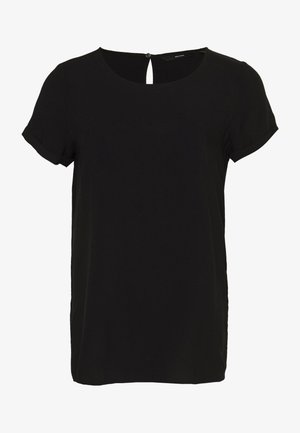 VMNADS FOLD UP BLOUSE  - Blus - black