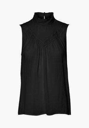 OBERTEIL ÄRMELOSES - Blouse - black
