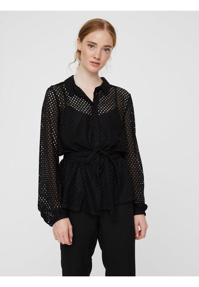 TRANSPARENTE - Button-down blouse - black