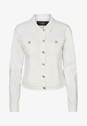 VMHOT SOYA JACKET MIX - Jeansjacke - white